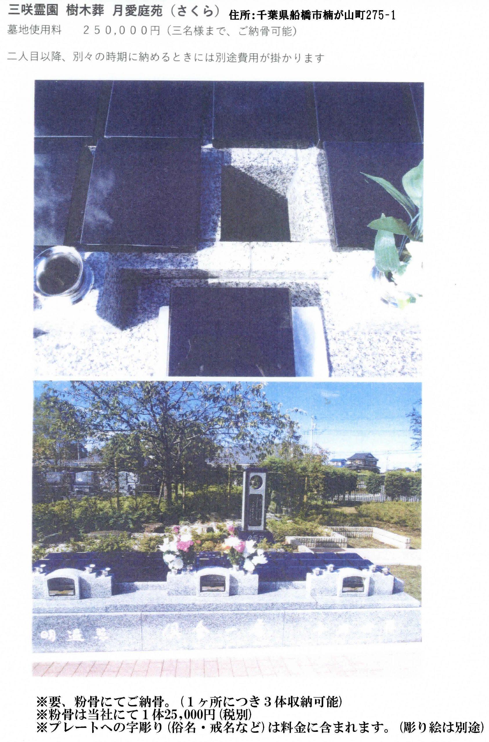 阿弥陀寺三咲霊園 樹木葬 詳細