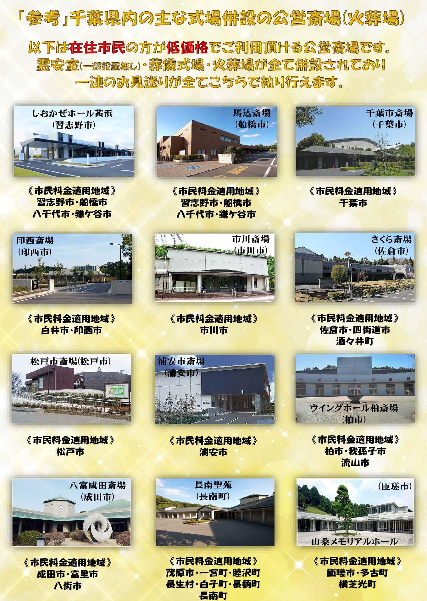 対応地域・参考公営斎場